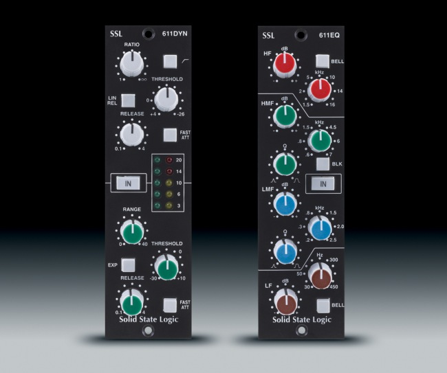 SSL 611 EQ and SSL 611 Dynamic 500 series